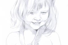 Bleistiftzeichnung - Kind (kleines Mädchen)