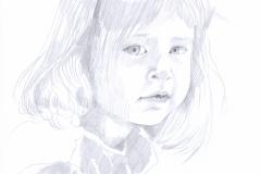 Bleistiftzeichnung - Kind