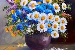 Maler Hannover, Ölgemälde auf Leinwand, Stillleben Blumen