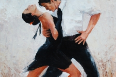 Tangotänzer digitale Malerei, Tangotänzer